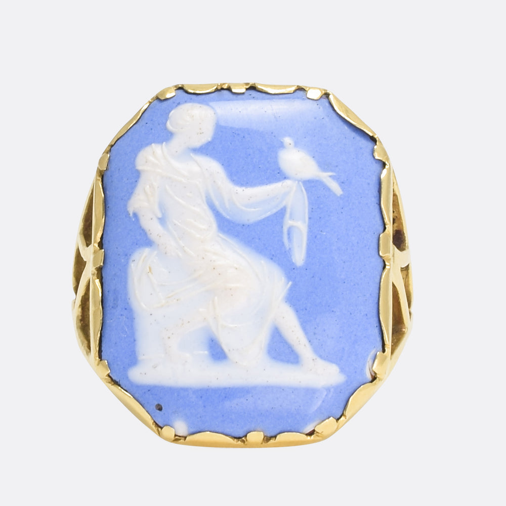Georgian Girl With Dove Cameo Ring