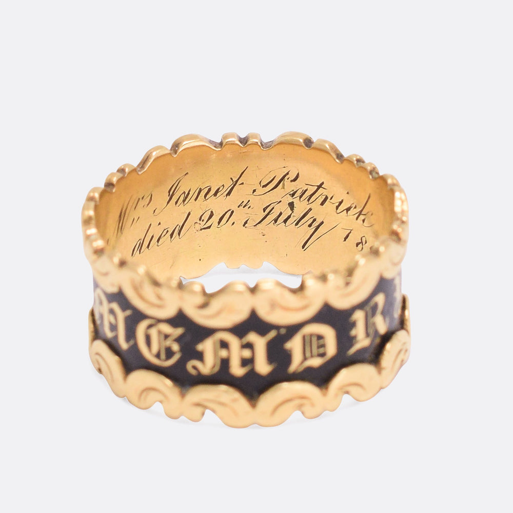Georgian IN MEMORY OF Locket Memorial Ring