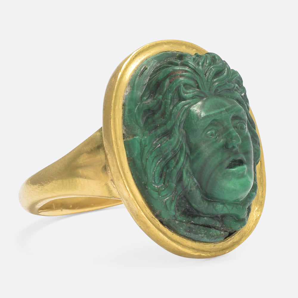 Georgian Medusa Cameo Ring