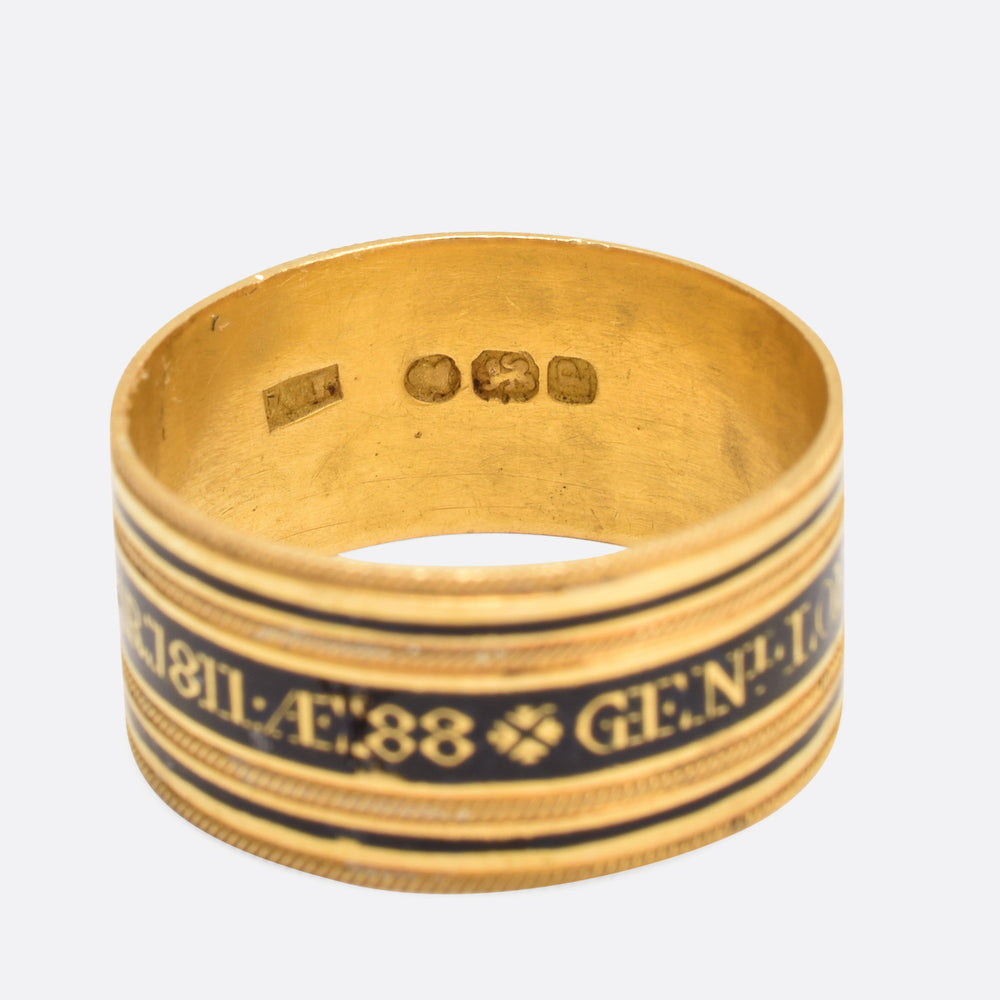 "Georgian Memorial Ring to ""General Loftus Anthony Tottenham"""