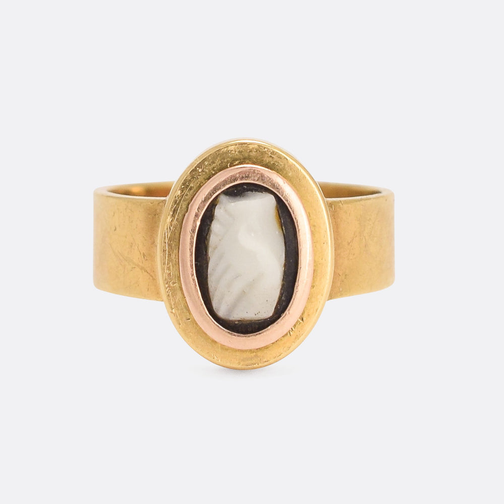 Georgian Onyx Cameo Fede Ring