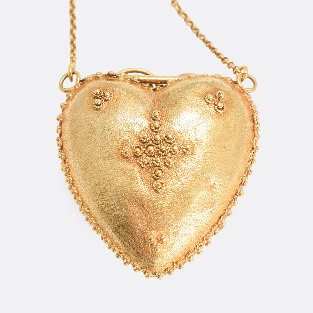 Georgian Regency Acrostic REGARD Heart Locket