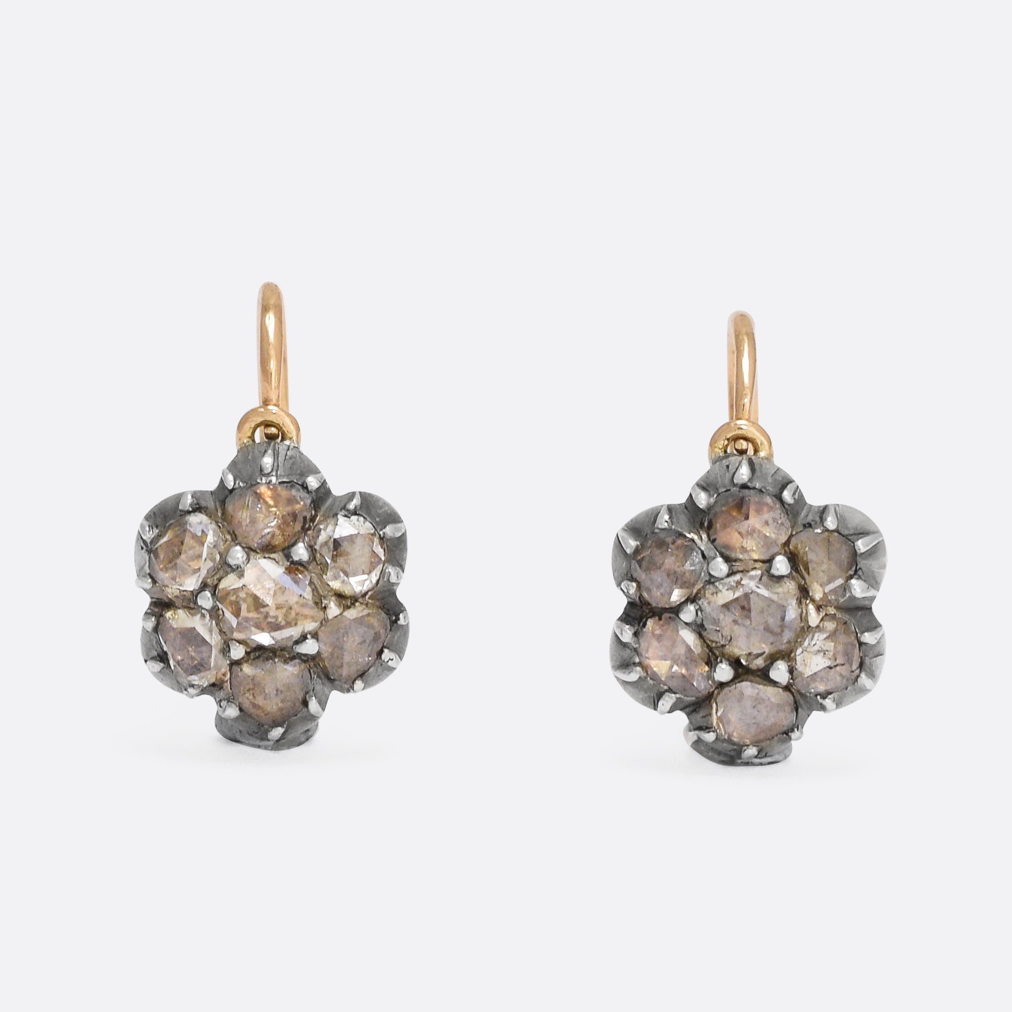 themselves beautify with white antique diamond vintage earrings edwardian gold