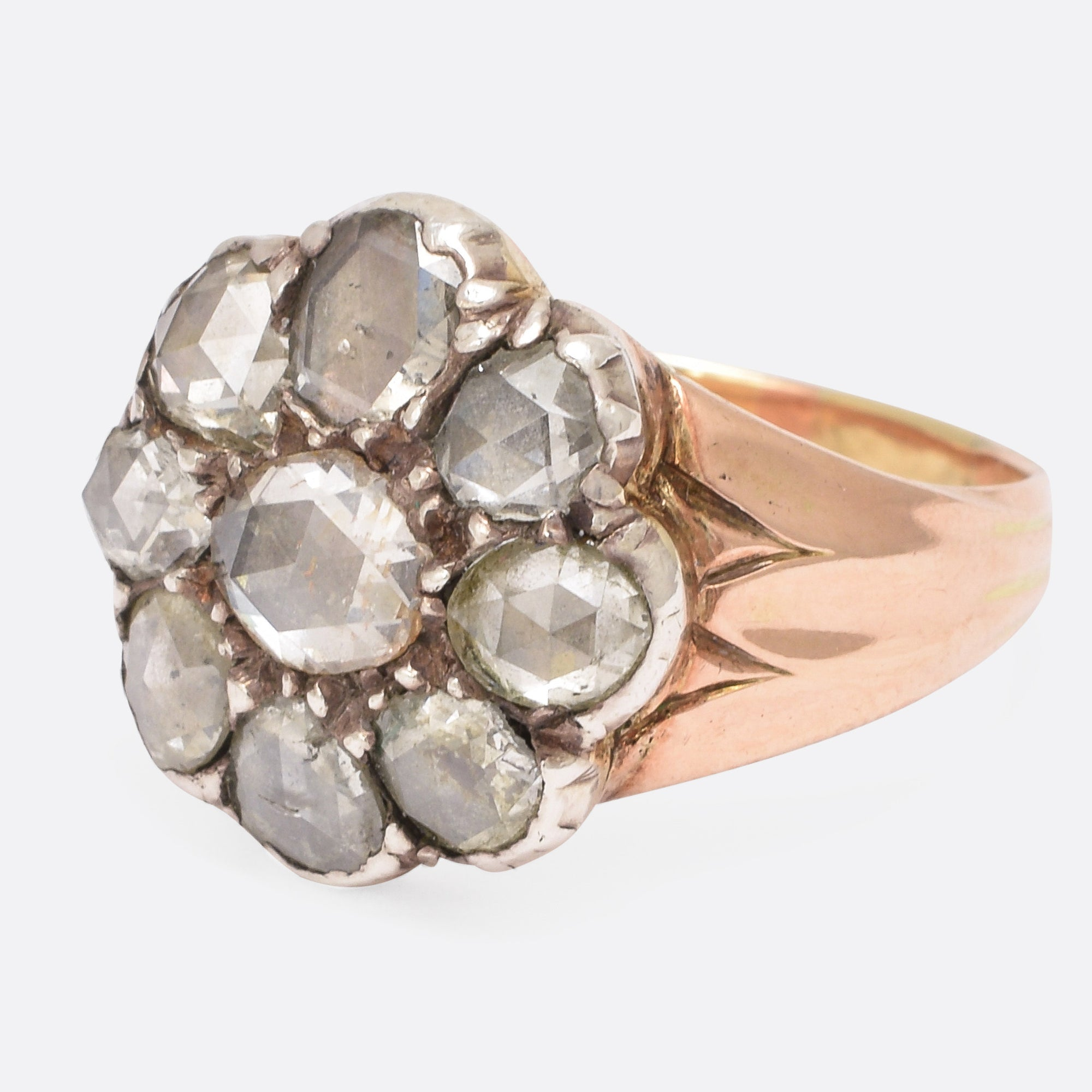 rose gold pin rings sapphire antique cluster and engagement ring pearl seed georgian