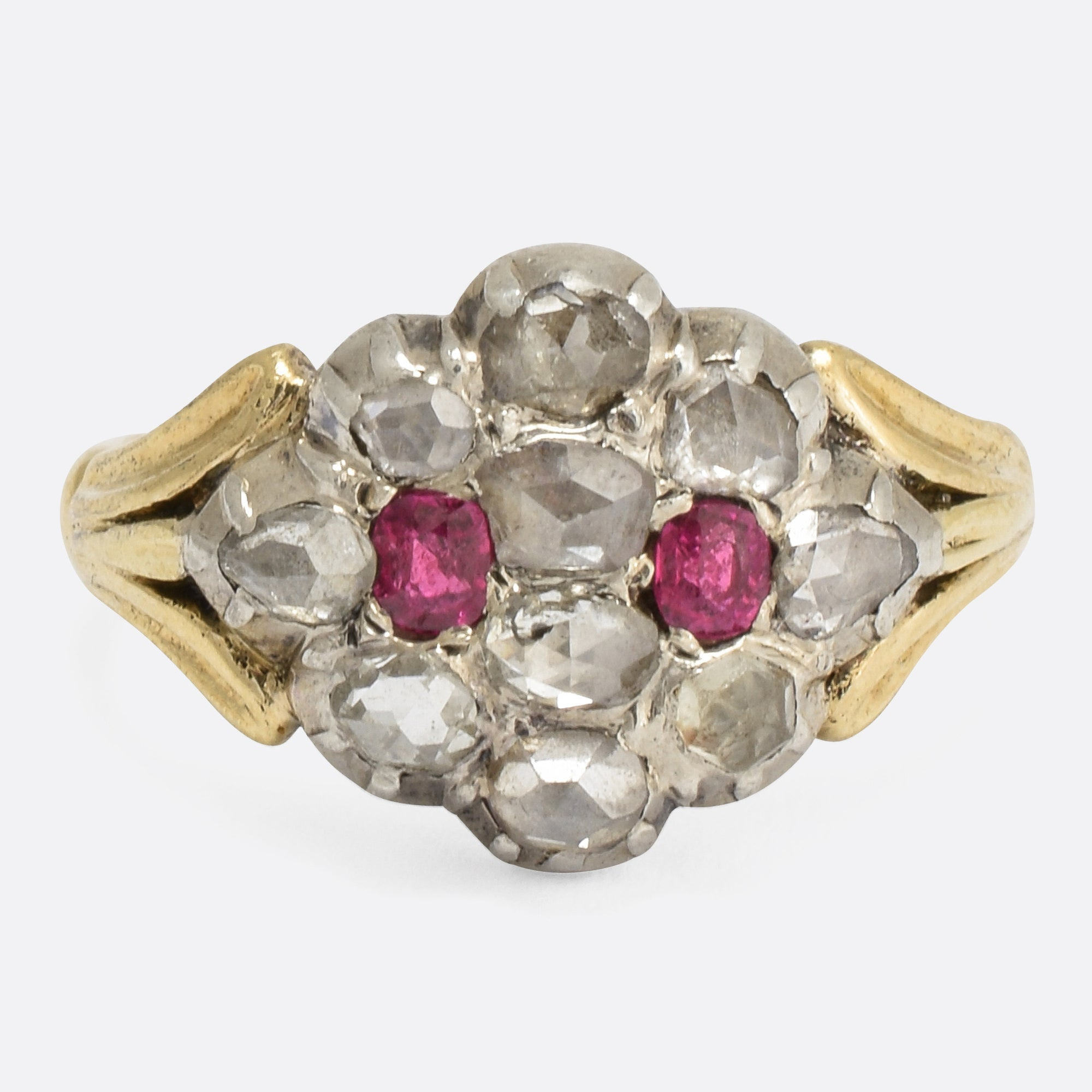 gold with white tw yellow ring diamonds diamond ruby in