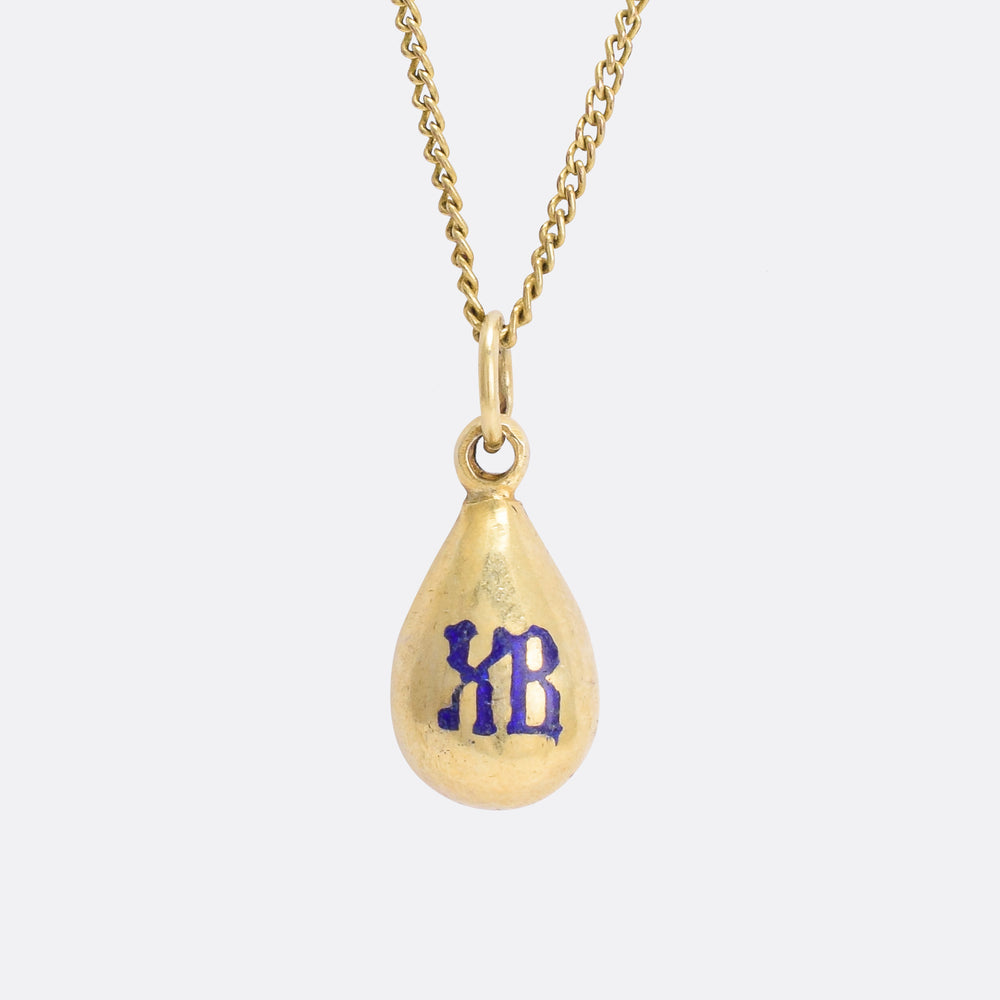 Imperial Russian XB Easter Egg Pendant