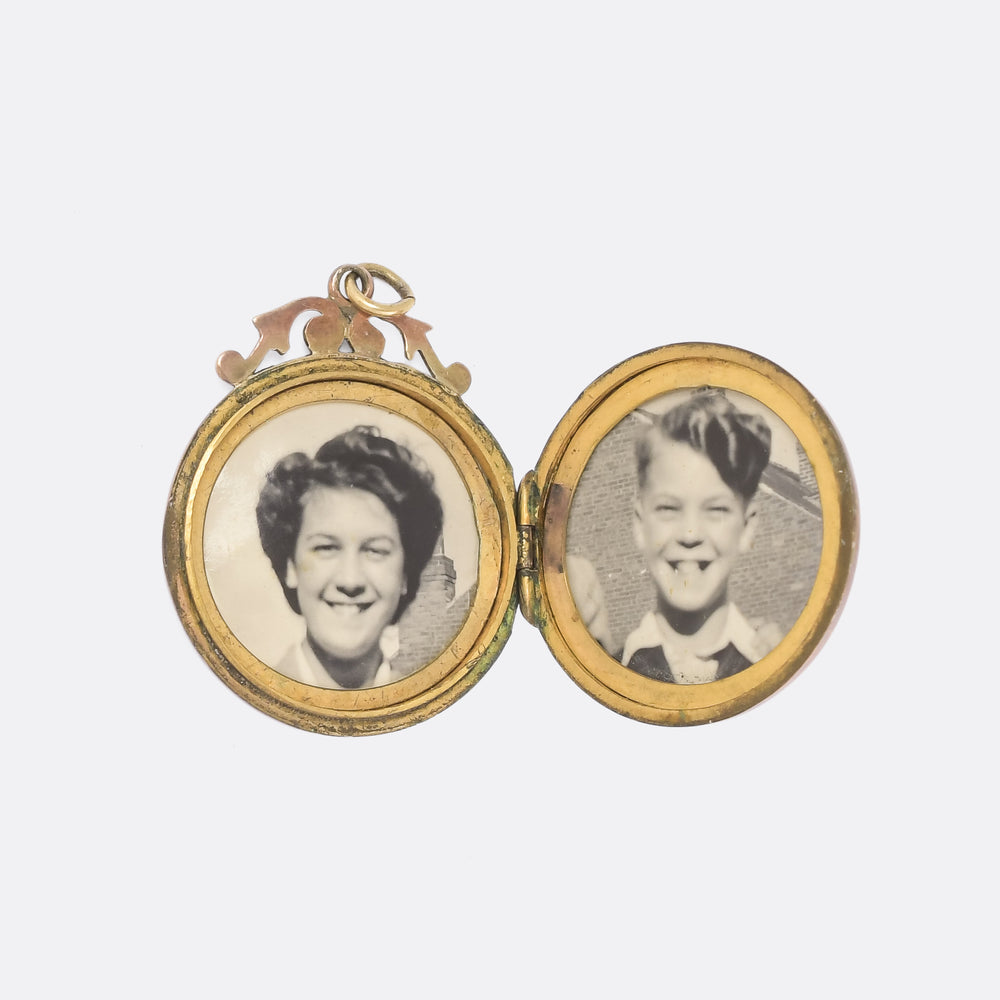 Late Victorian Chased Round Locket