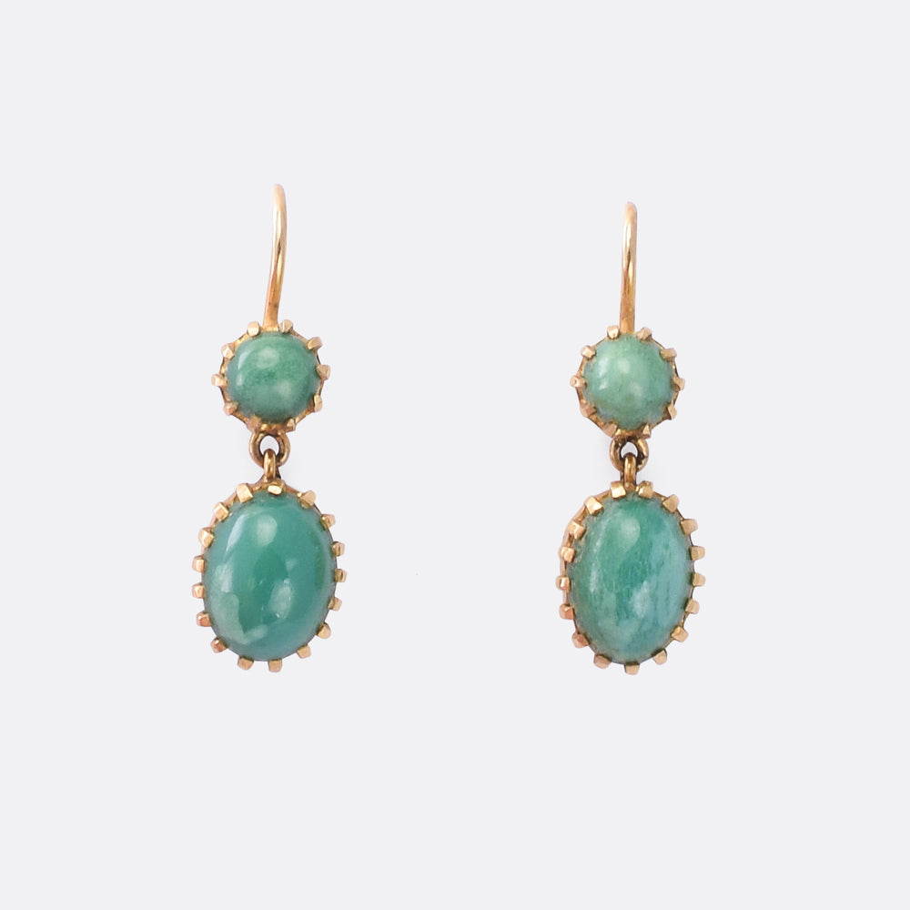 Late Victorian Turquoise Earrings