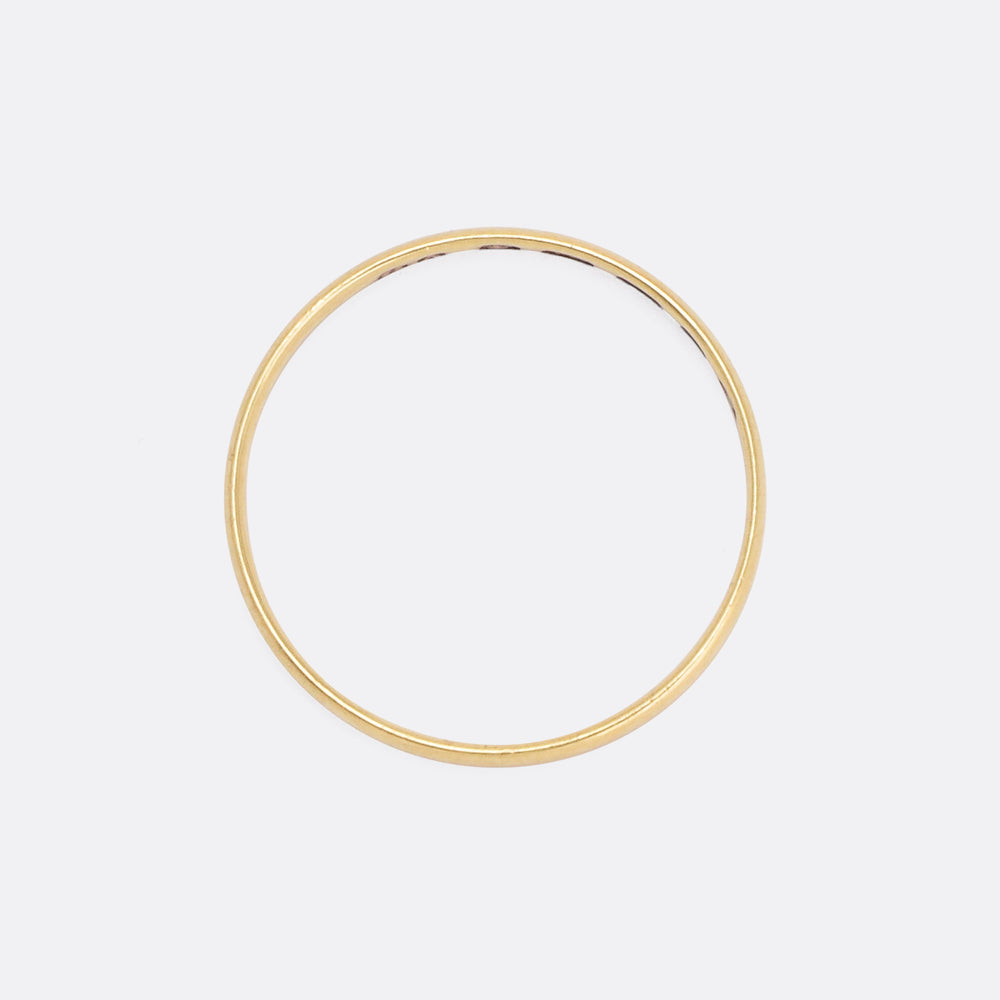 Mid-Victorian 18k Gold Wedding Band