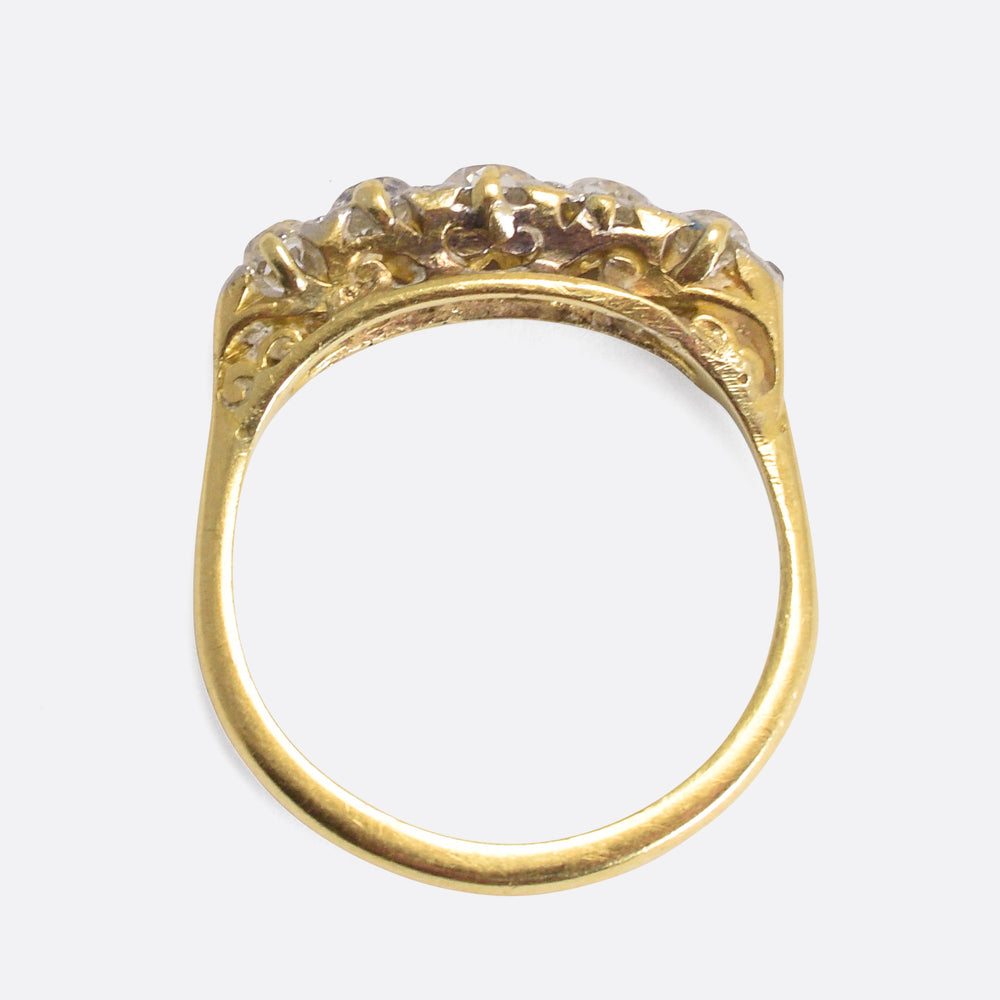 Mid-Victorian Old Cut Diamond 5-Stone Band