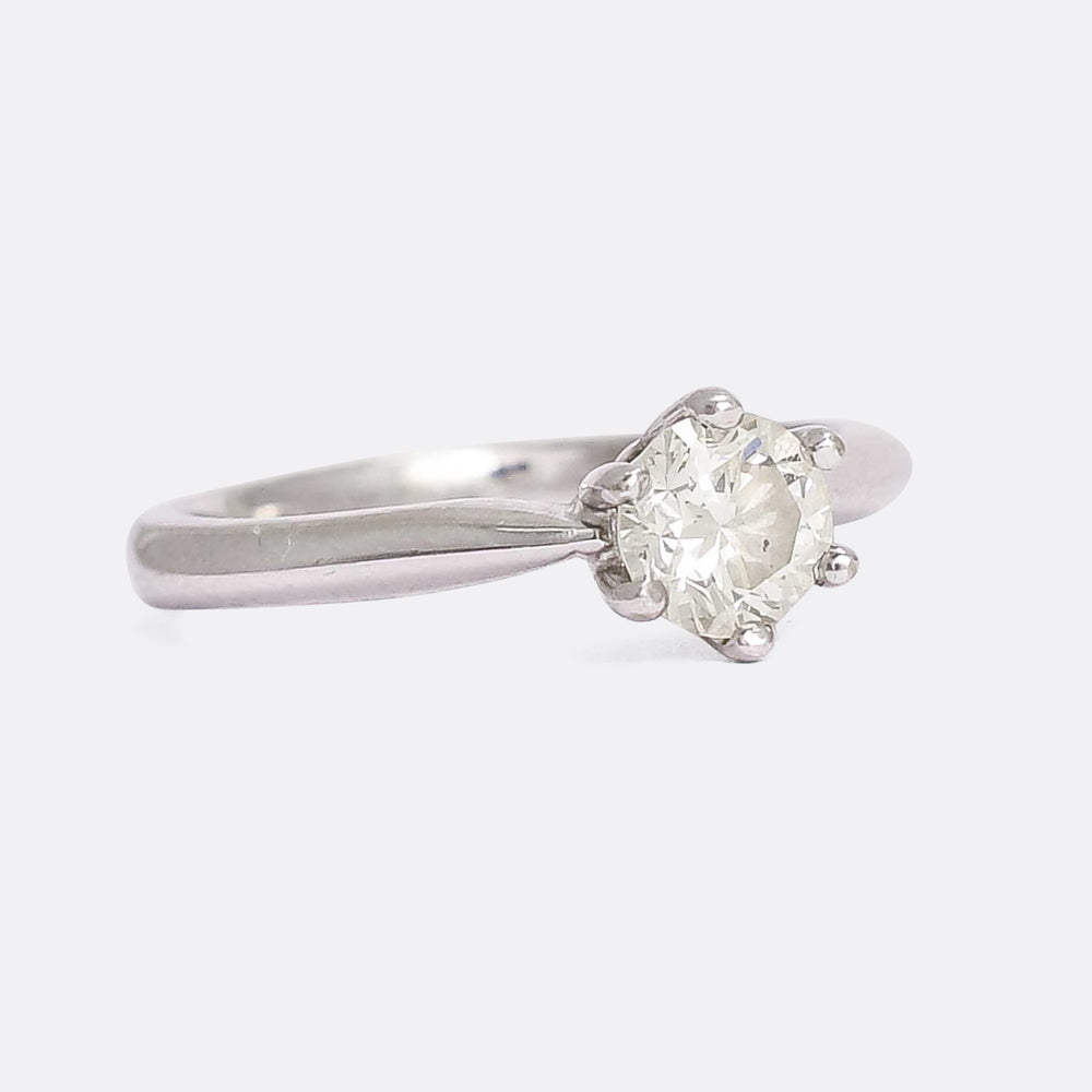 Modern .50ct Diamond Solitaire Engagement Ring