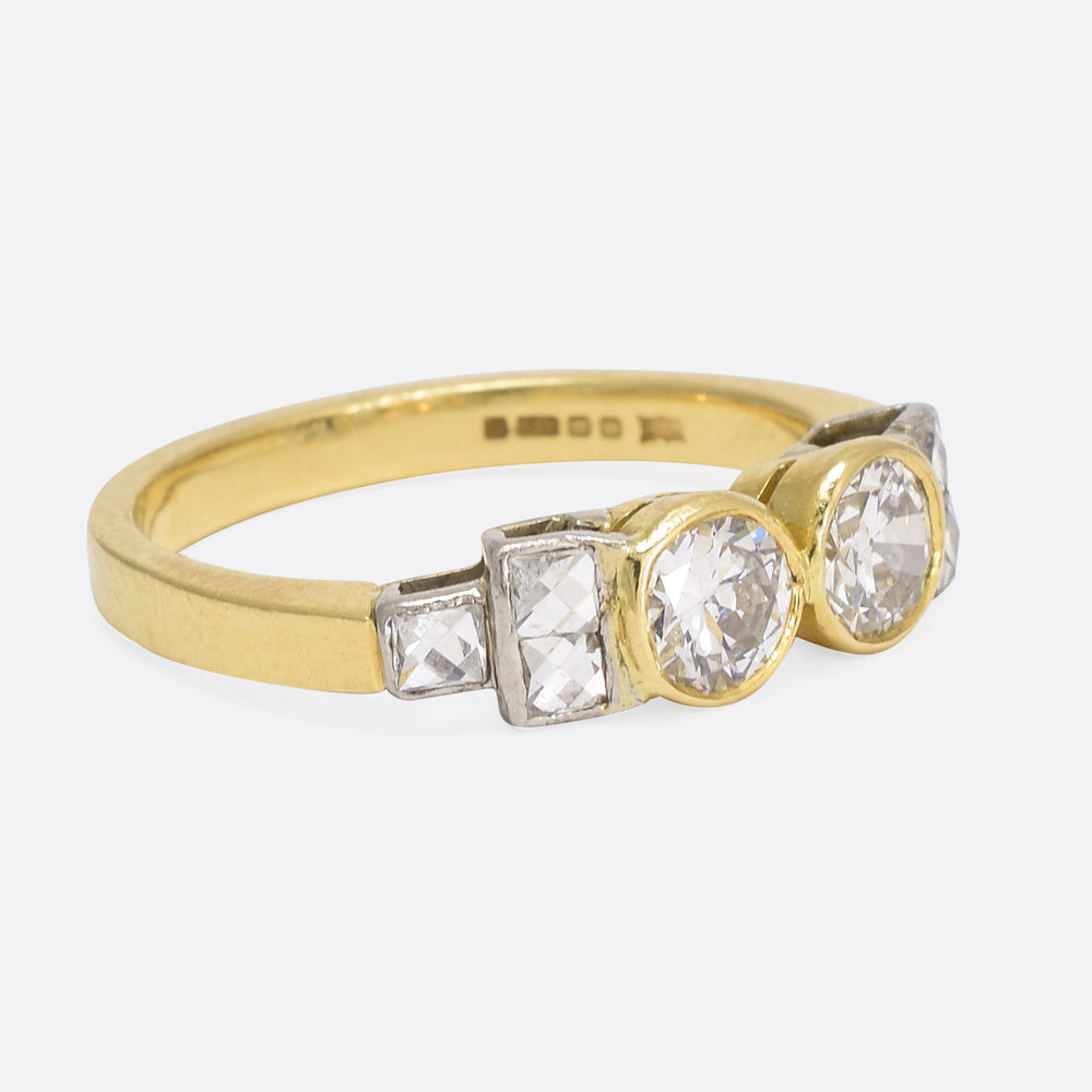 Modern .80ct Diamond Ring