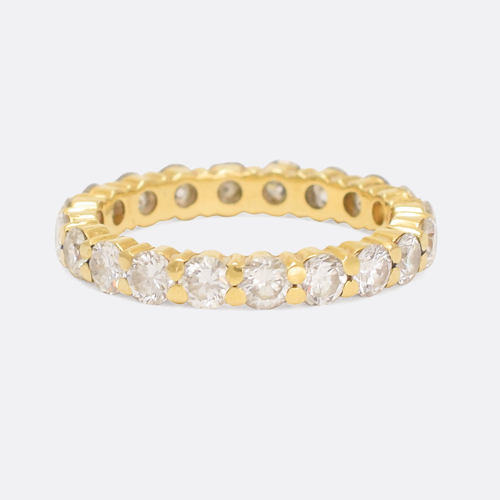 Modern 2.2ct Diamond Eternity Ring