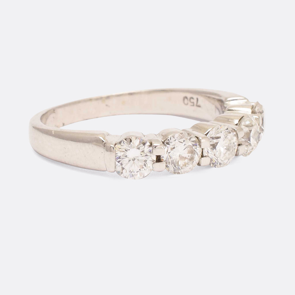 Modern Diamond 5-Stone Ring