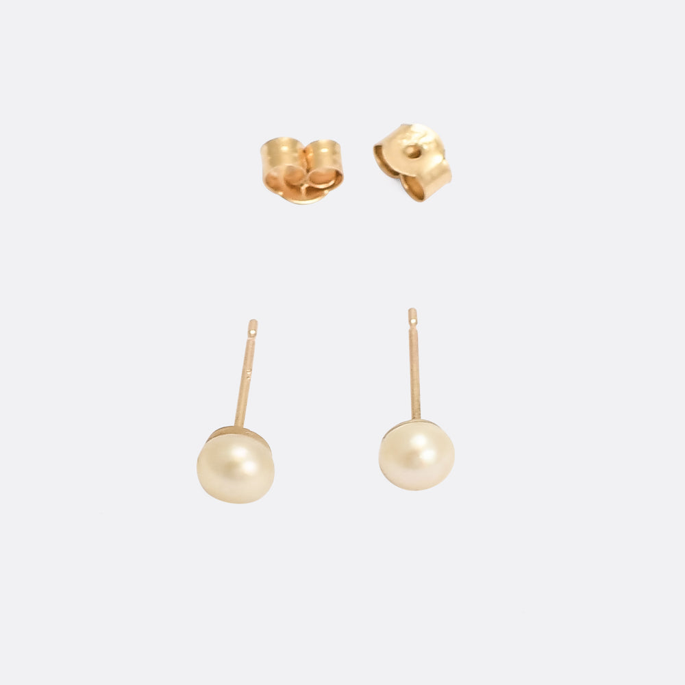 Natural Pearl Stud Earrings