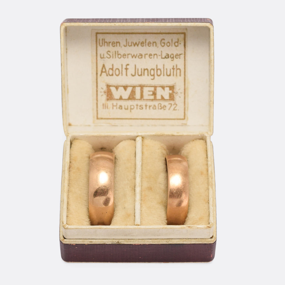 Pair of 1920s 14k Gold Wedding Bands