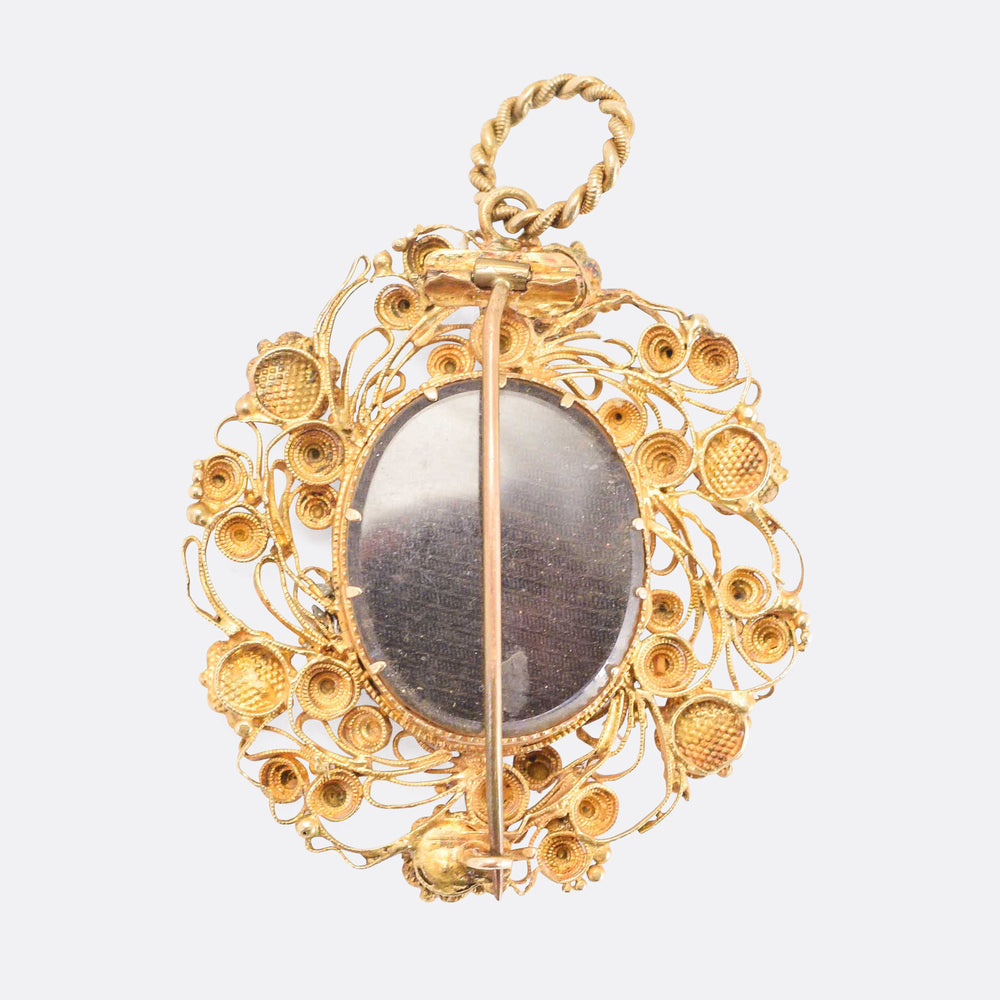 Regency Period Cannetille Forget-Me-Not Locket