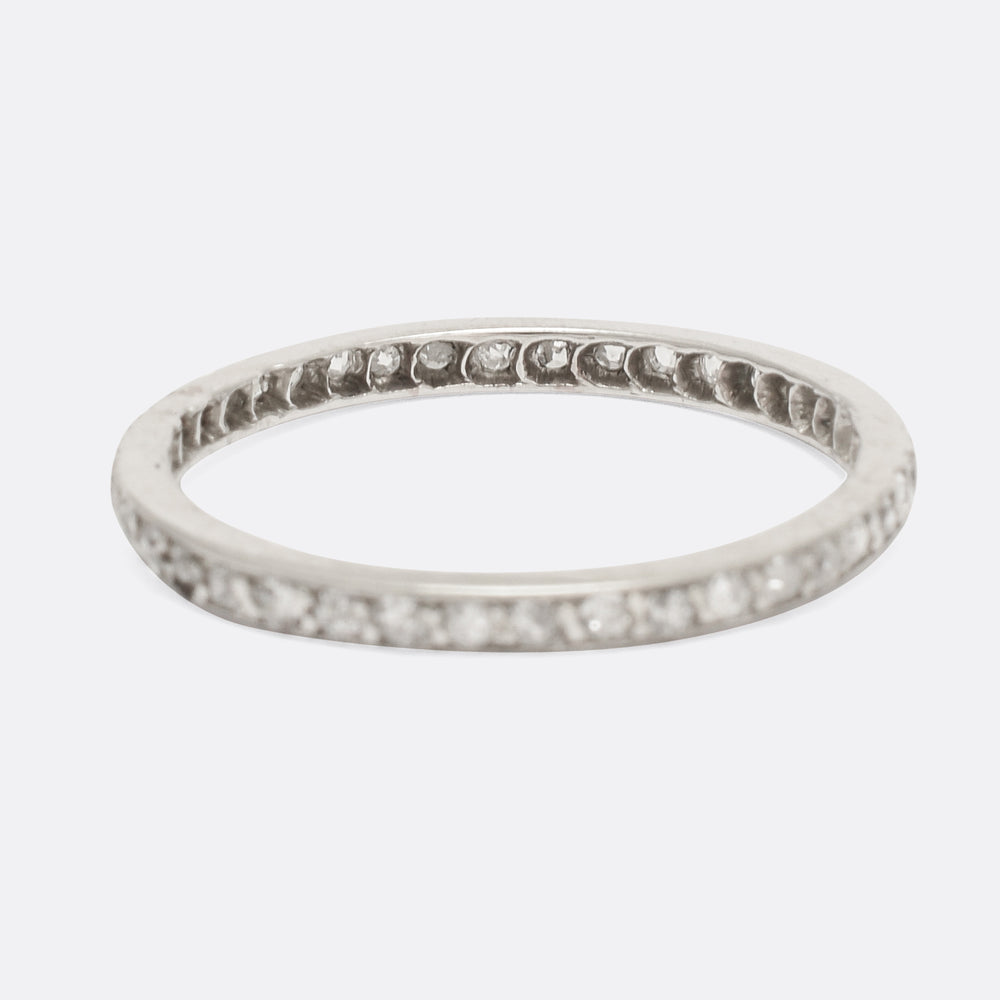 Slim Edwardian Diamond Eternity Ring