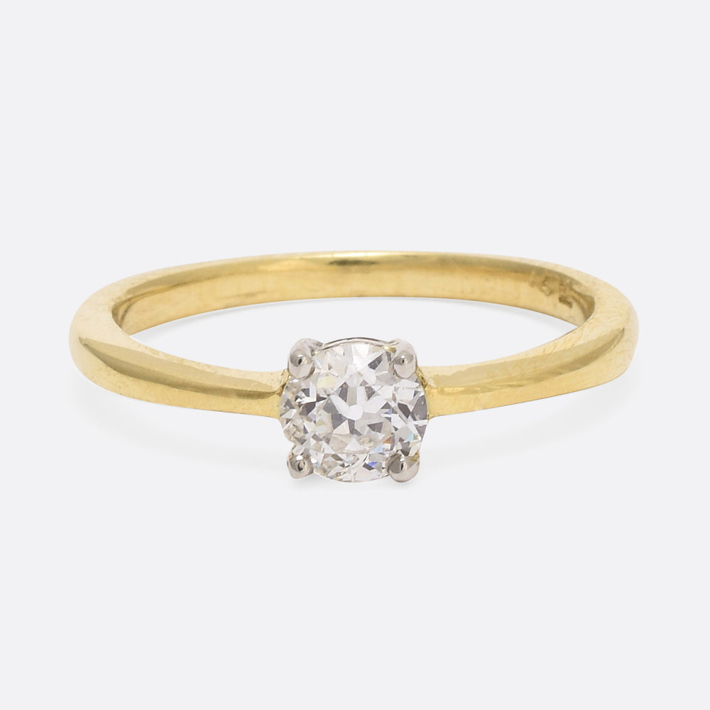 .47ct Transitional Cut Diamond Solitaire Ring - Butter Lane Antiques