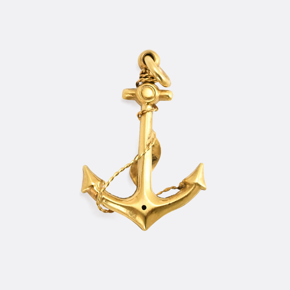 Victorian Diamond Anchor Pendant