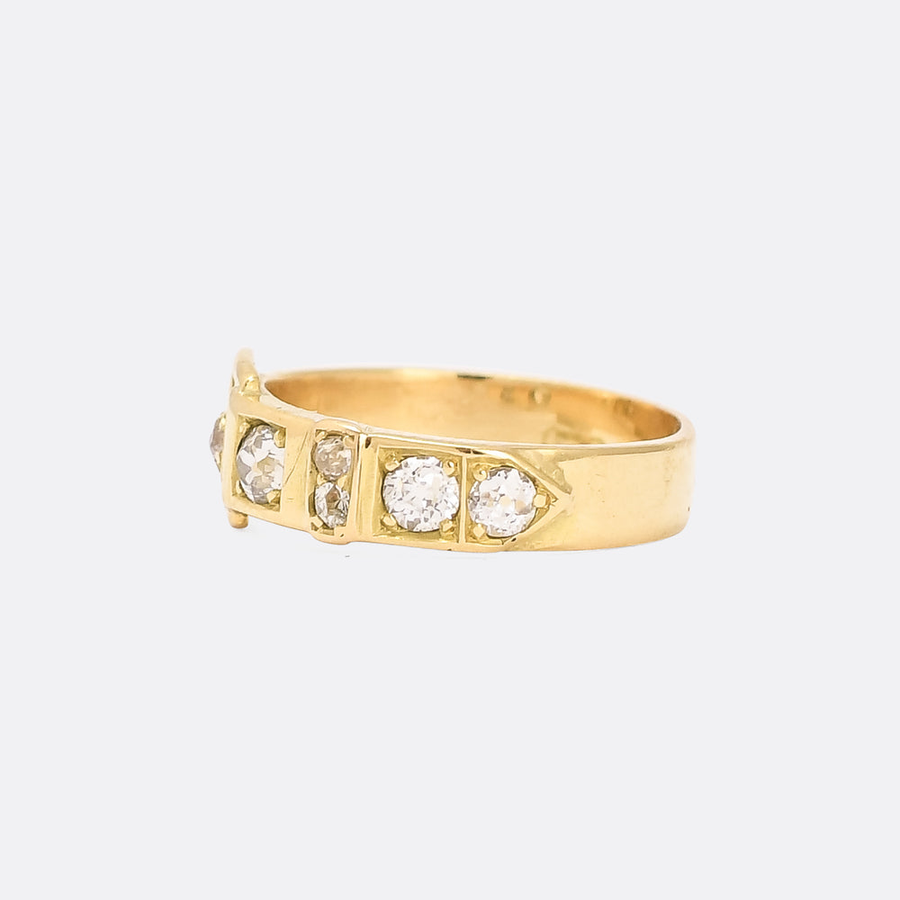 Victorian OMC Diamond Buckle Ring