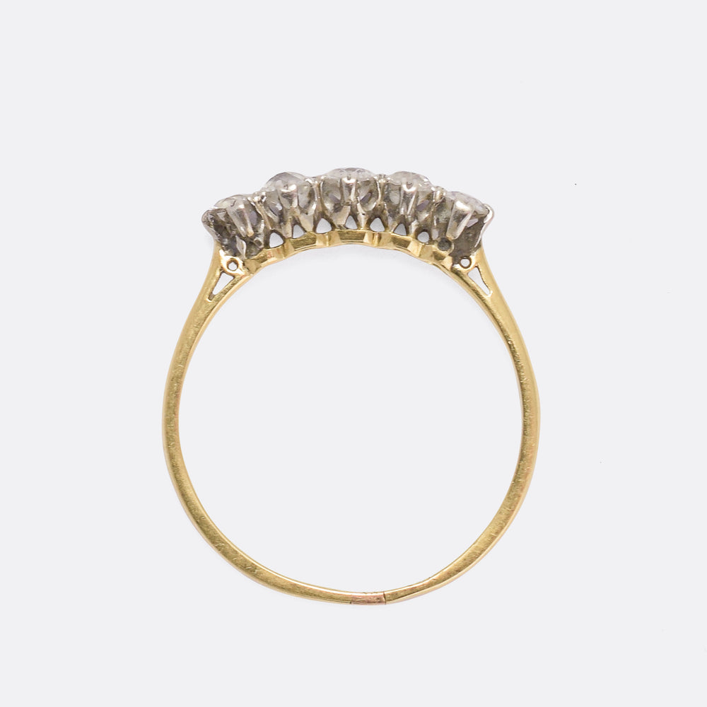 Victorian Old Cut Diamond 5-Stone Ring