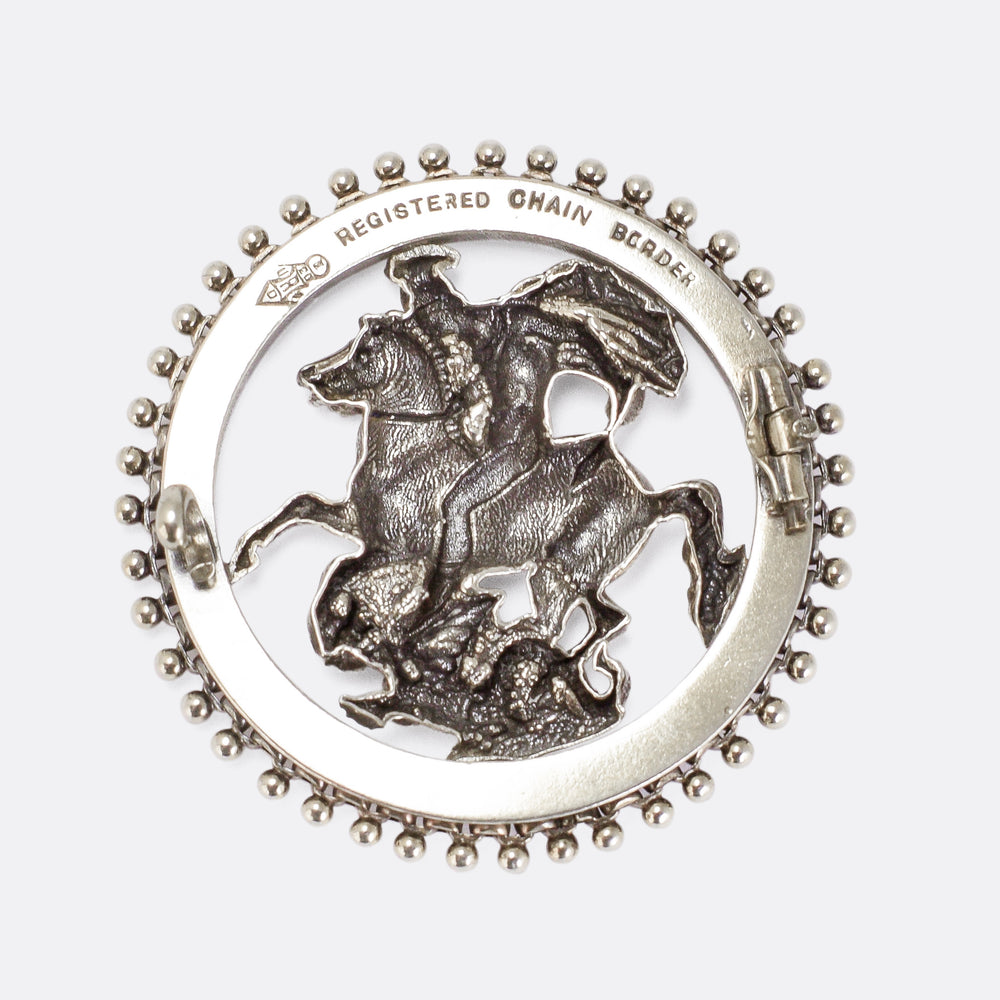 Victorian St George And The Dragon Brooch