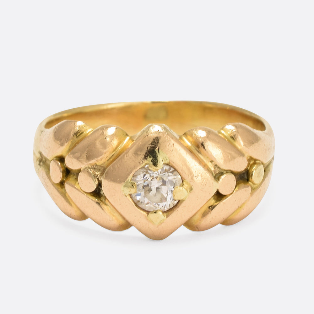 Victorian .38ct Old Cut Diamond Keeper Ring
