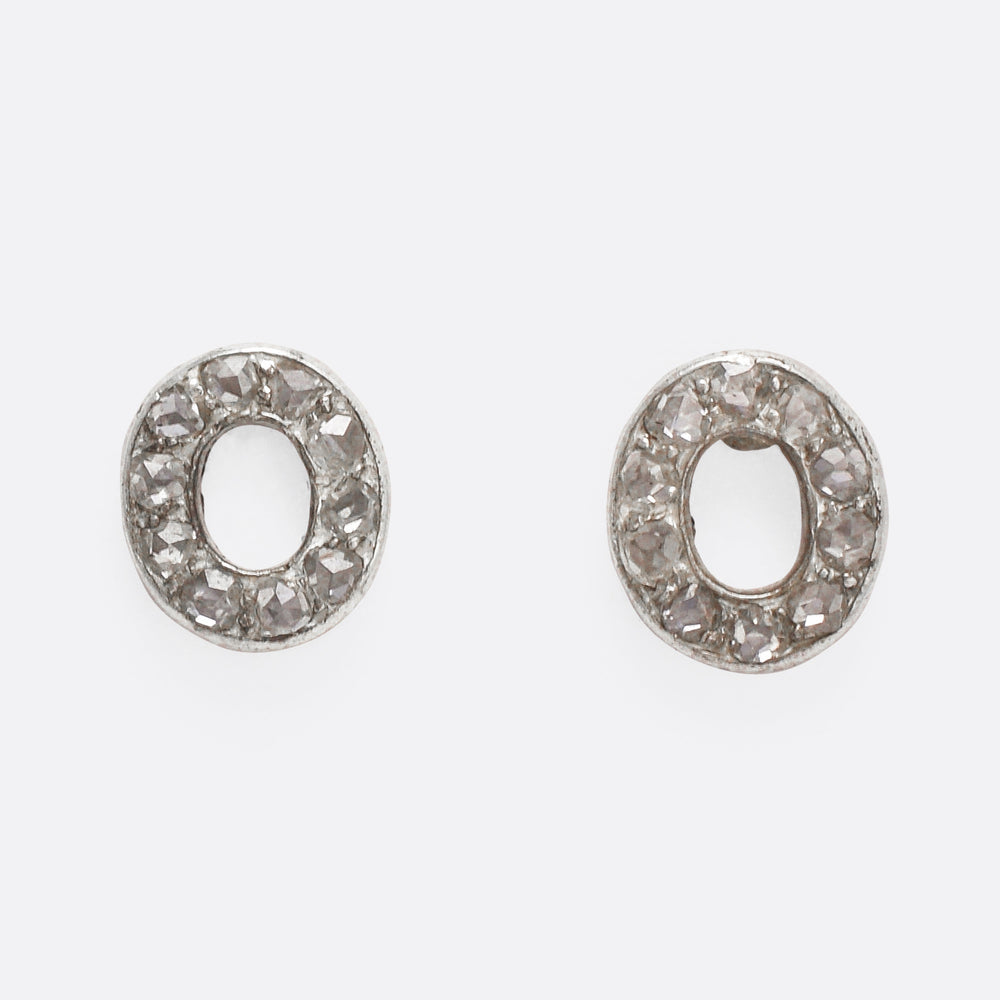 Victorian 00 Diamond Stud Earrings