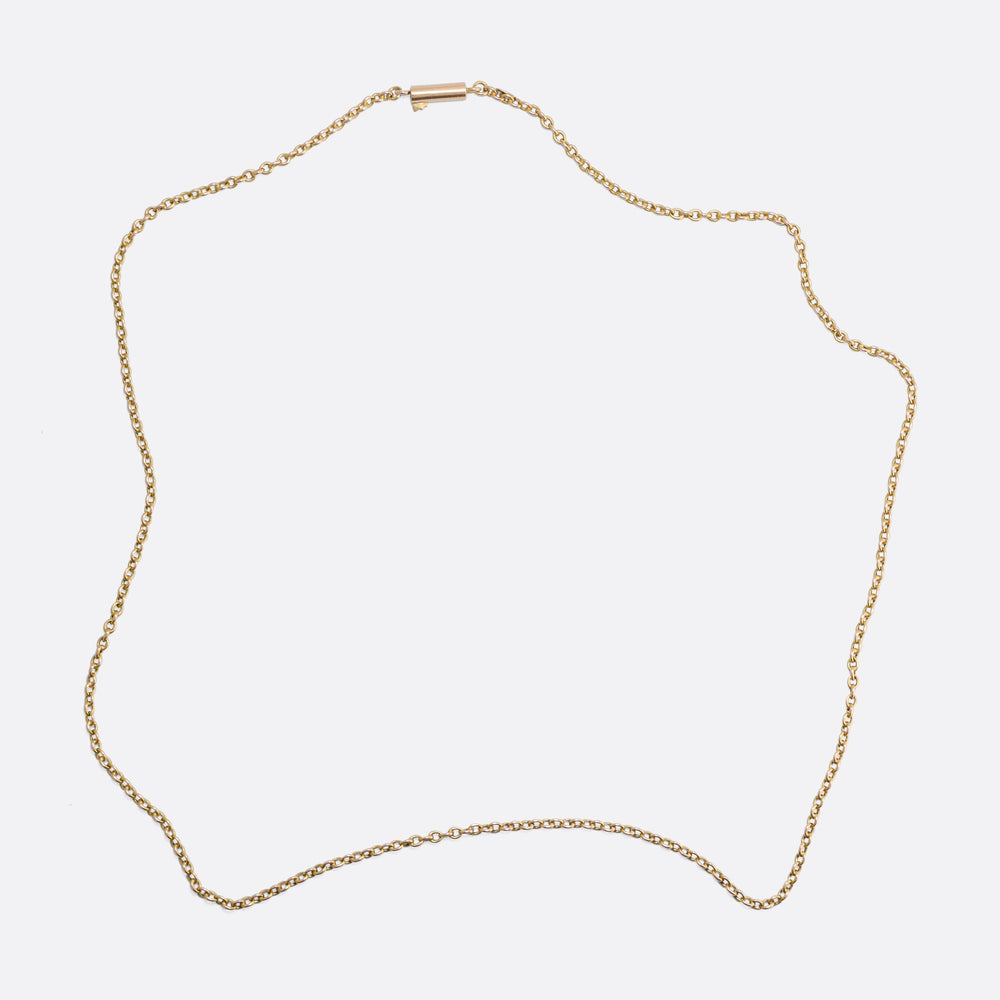 Victorian 15k Gold Chain Necklace