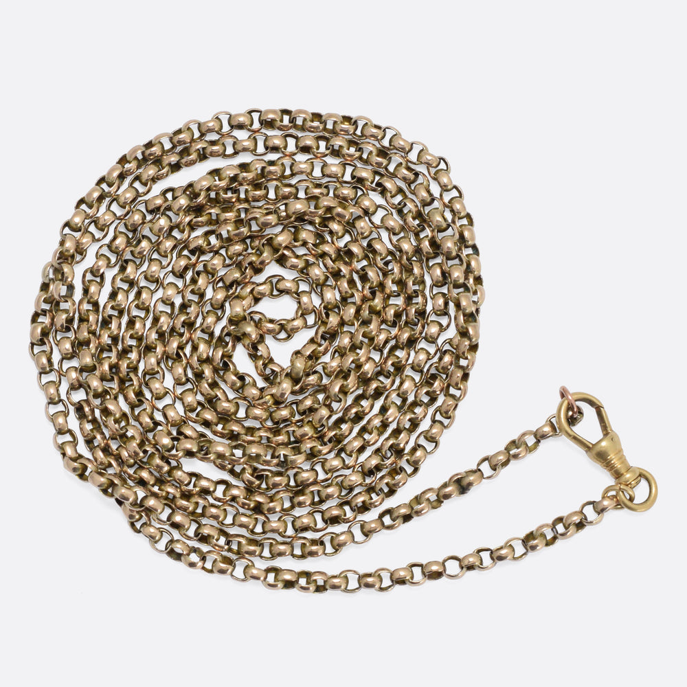 Victorian 9k Gold Guard Chain