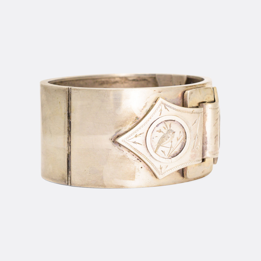 Victorian Aesthetic Movement Buckle Cuff Bangle