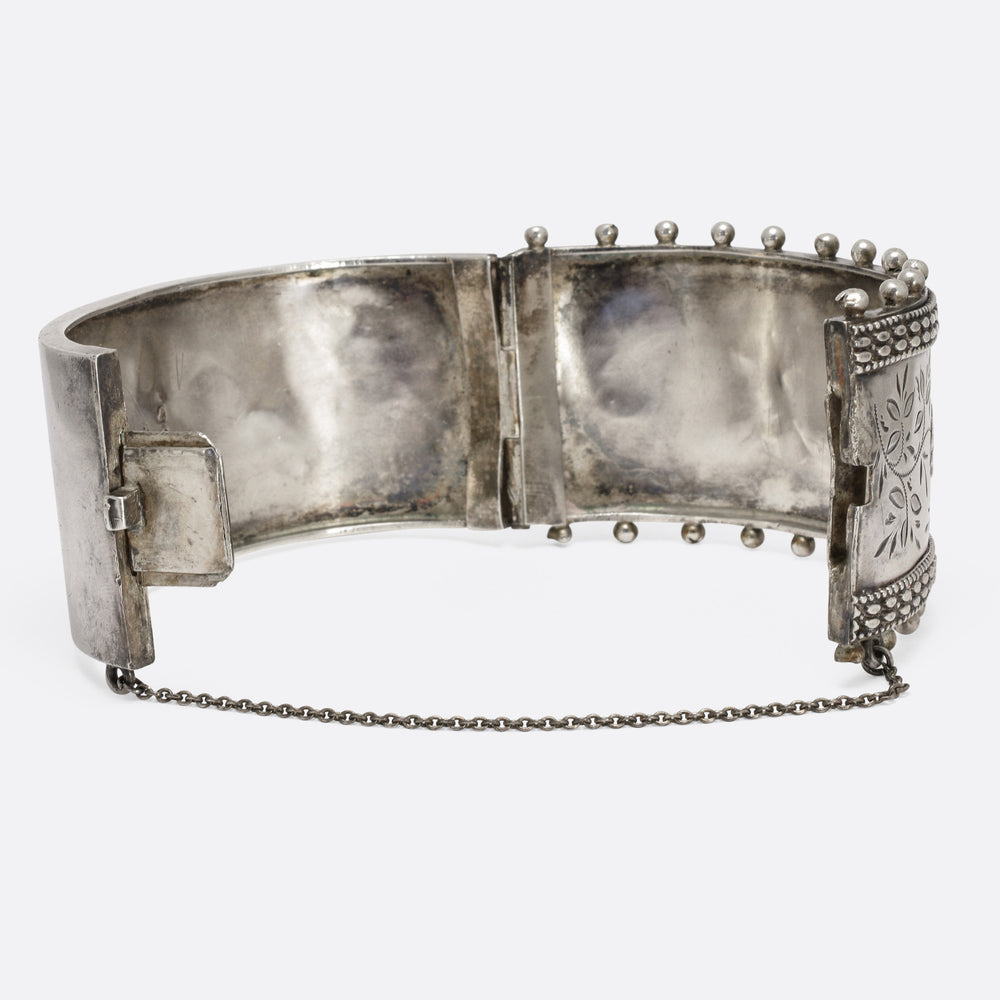Victorian Aesthetic Movement Silver Bangle
