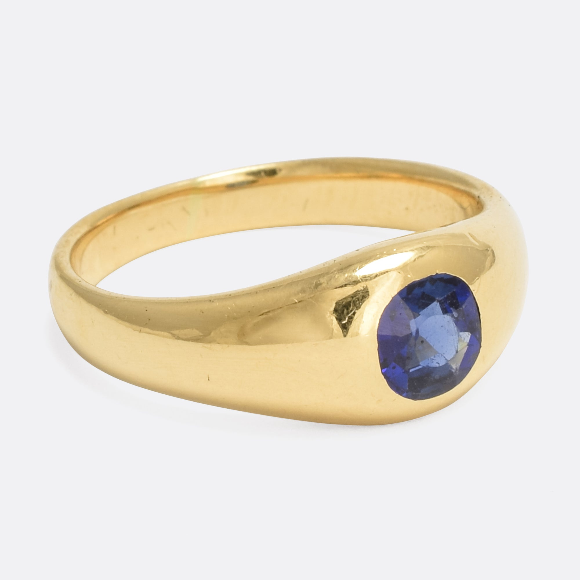 sapphire oval solitaire ring gold carats pin light yellow natural blue