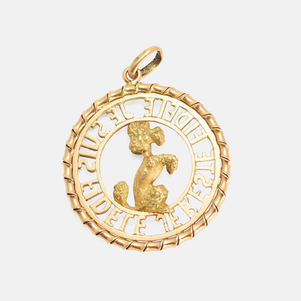 Victorian Faithful Poodle Pendant