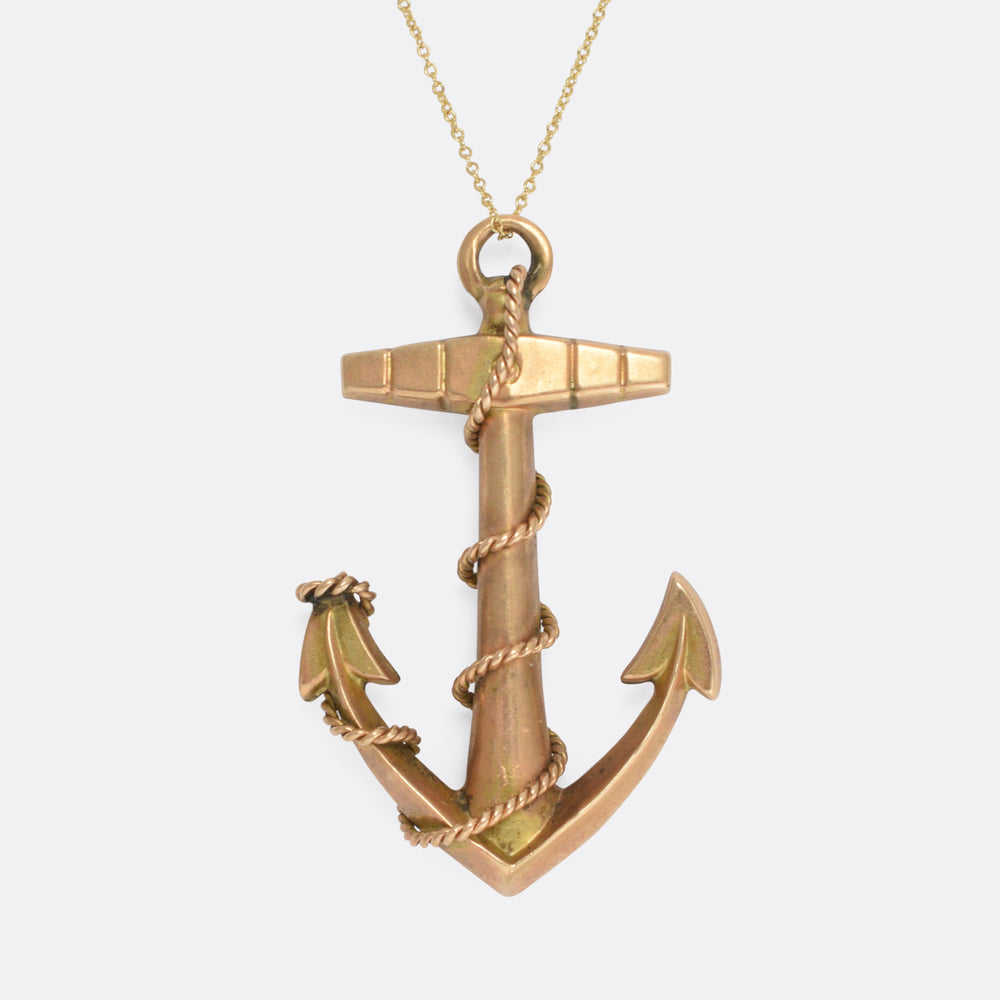 Victorian Gold Anchor Pendant
