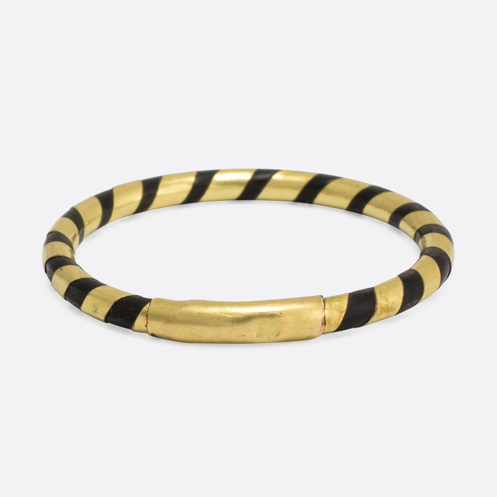 Victorian Gold & Elephant Hair Spiral Band