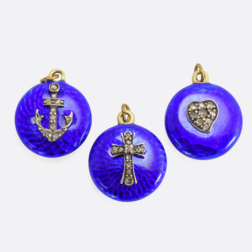Victorian Hope Faith & Charity Locket Set