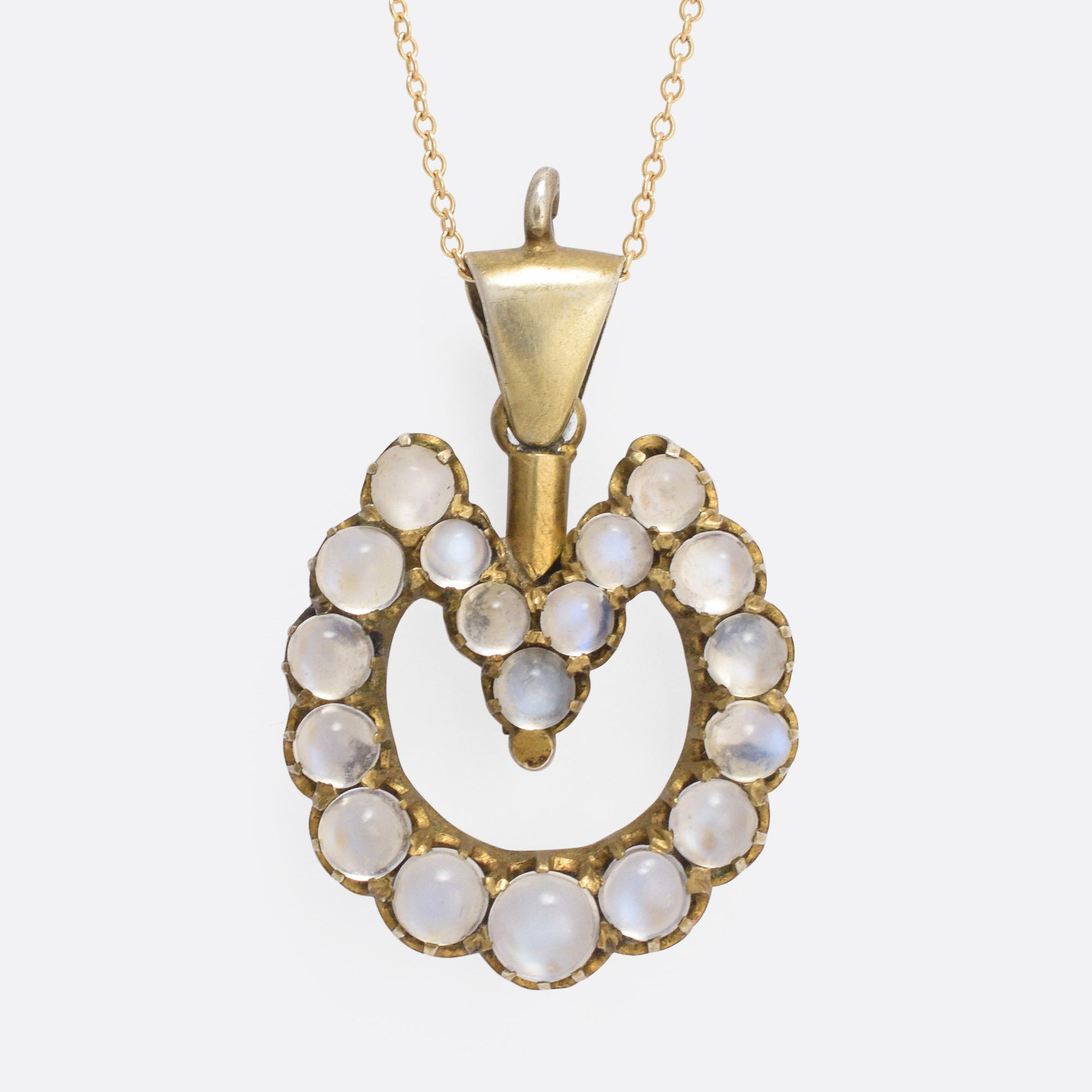 pendantnecklace white diamond necklace roberto pendant gold horseshoe coin