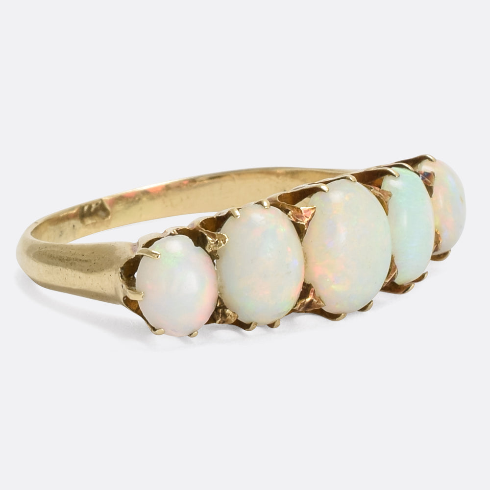 Victorian Opal 5-Stone Statement Ring