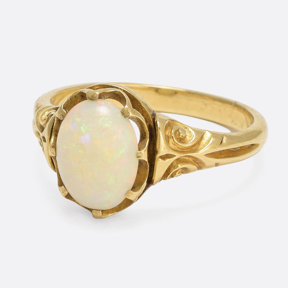 Victorian Opal Scrolled Ring