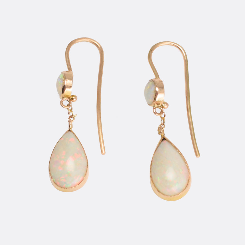 Victorian Opal Teardrop Earrings