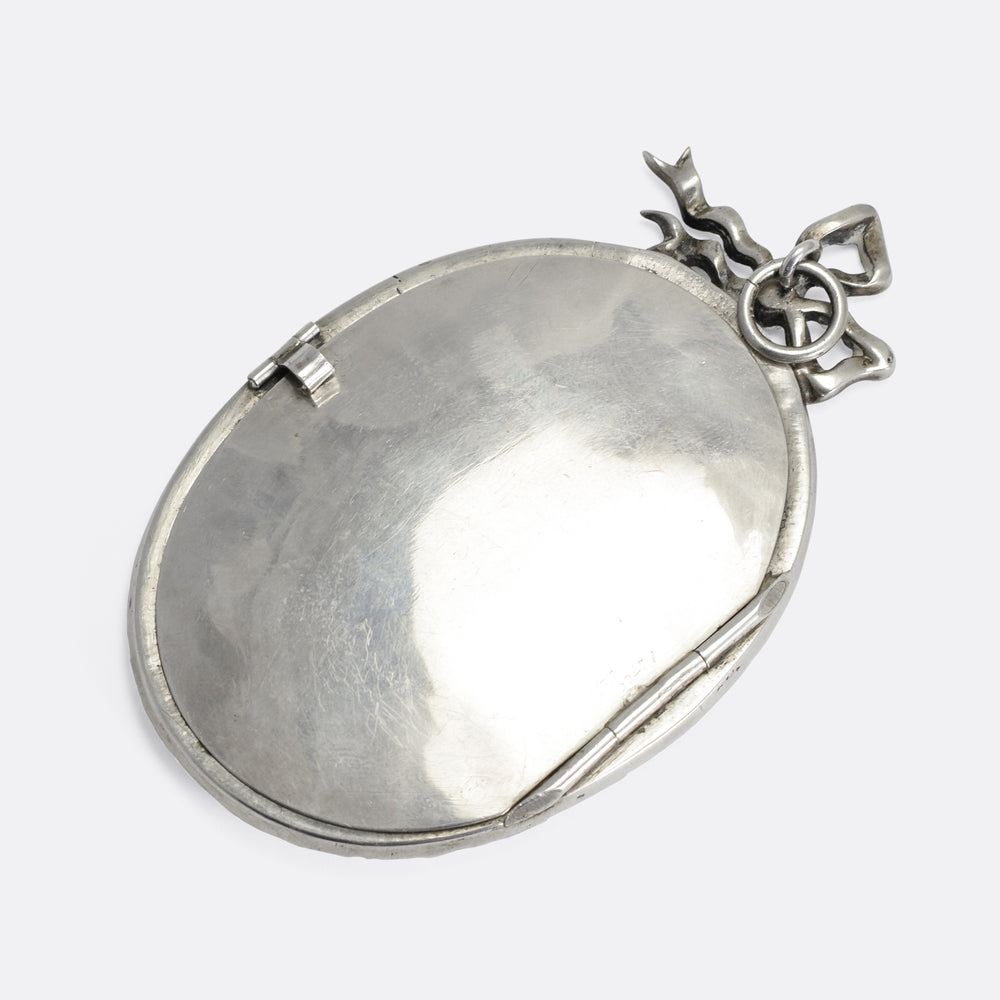 Victorian Oversized Silver & Paste Locket