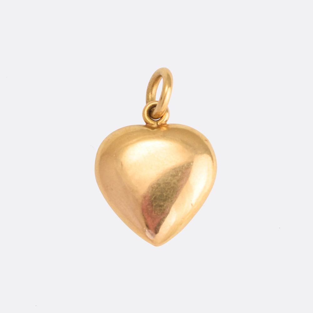 Victorian Pearl Puffed Heart Pendant