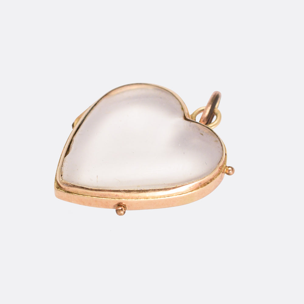 Victorian Pool of Light Heart Locket