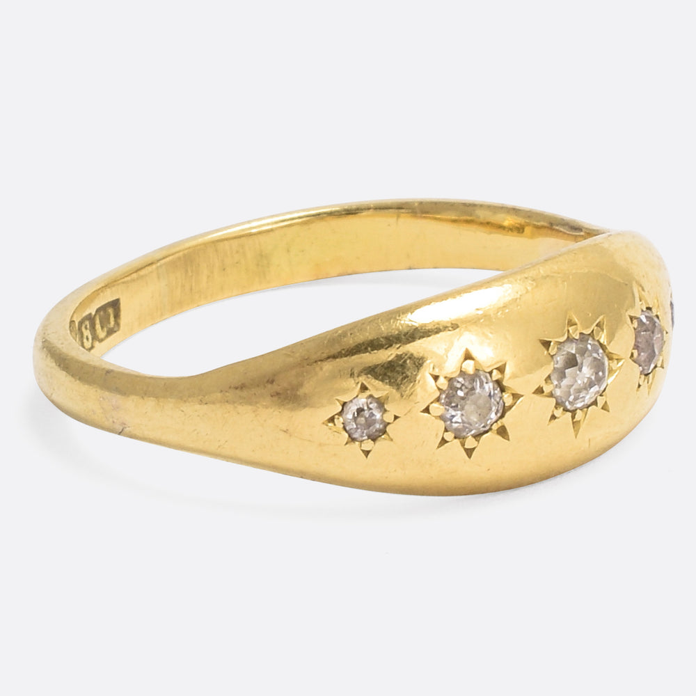 Victorian Star-Set Diamond Gypsy Ring