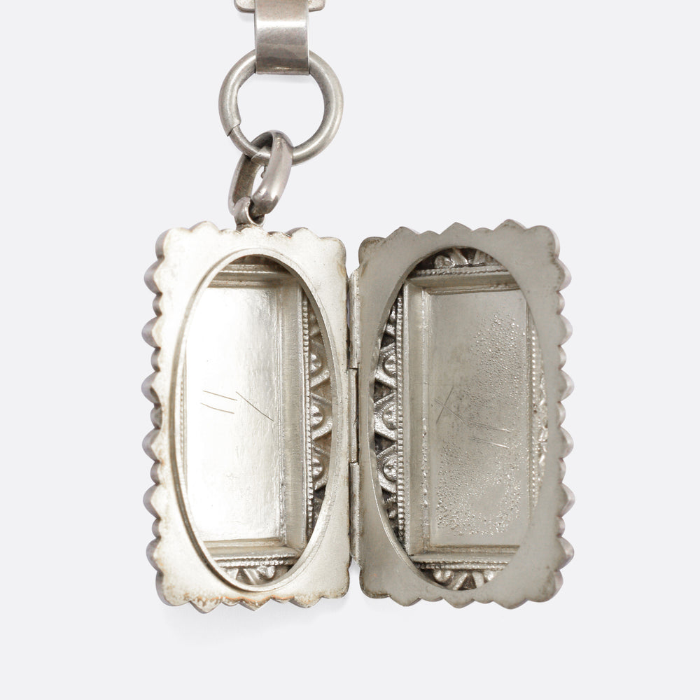 Victorian Sterling Silver Collar and Locket