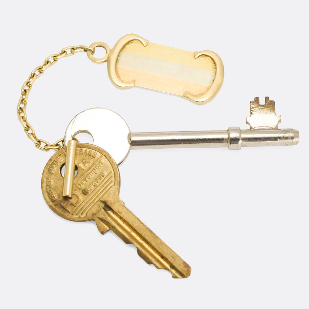 Vintage Cartier Double C Gold Keychain