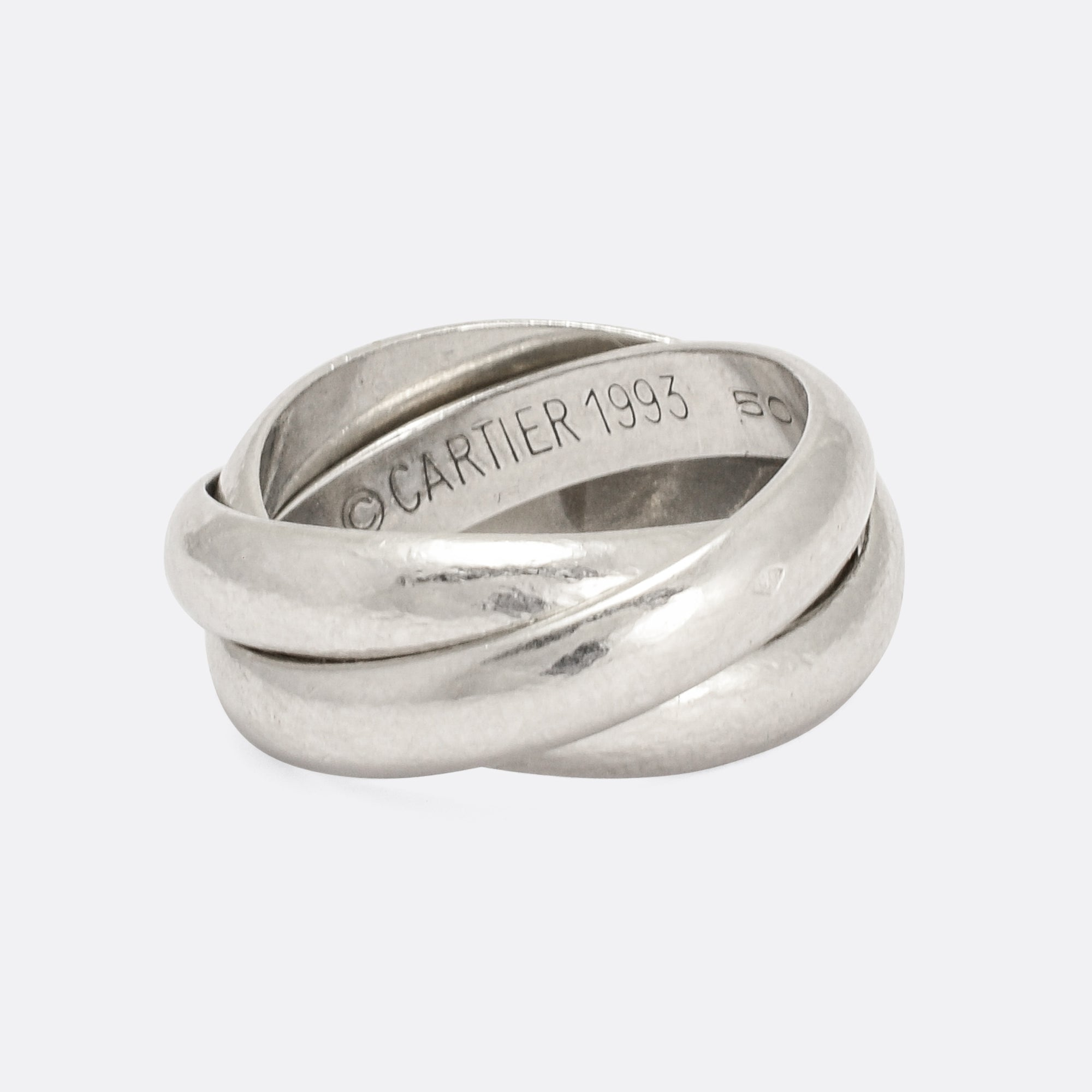 Vintage Cartier Russian Wedding Band In Platinum Butter Lane Antiques