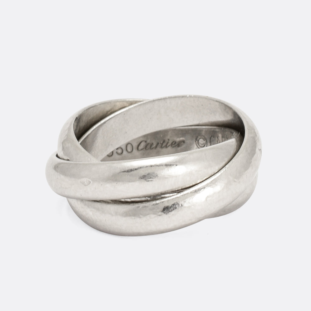 Vintage Cartier Russian Wedding Band in Platinum